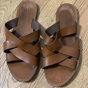 MADEWELL LEATHER STRAPPY SANDALS SIZE 10